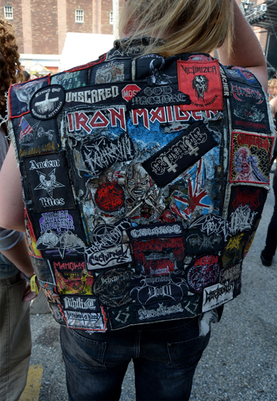 Backpatches of the 2015 Maryland Deathfest